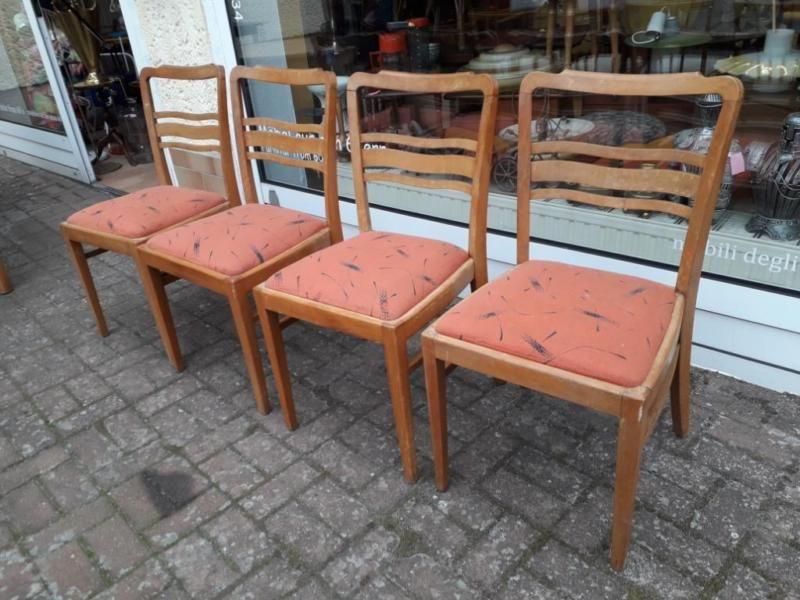 4 mit originale Holzstühle herausnehmbaren Vintage mNwOy08vn