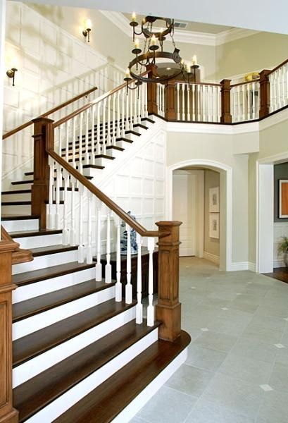 Best White Trim Wood Stairs Stair Renovation White Staircase 400 x 300
