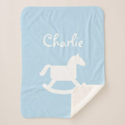 Custom rocking horse baby sherpa fleece blanket rocking horses custom rocking horse baby sherpa fleece blanket negle Gallery