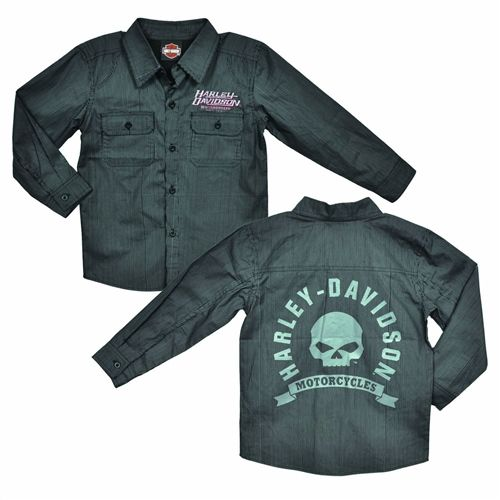 Harley Davidson Toddler Boy Motorcycle Shop Shirt Little Boys