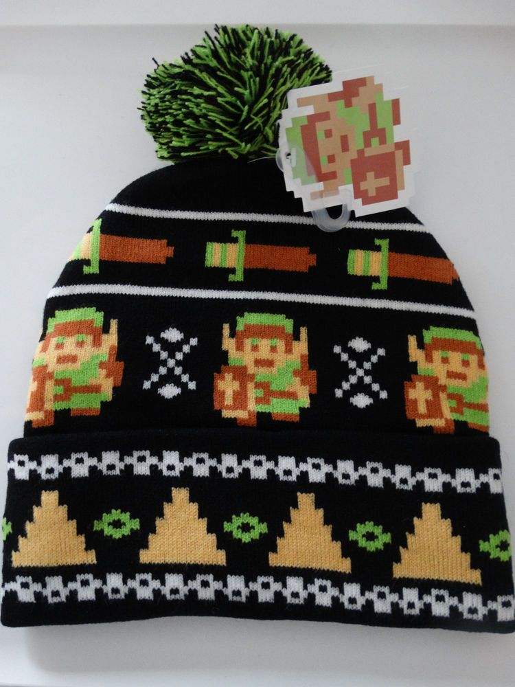 b18824fdb The Legend Of Zelda Nintendo 8 Bit Fair Isle Link Cuff Beanie Knit ...