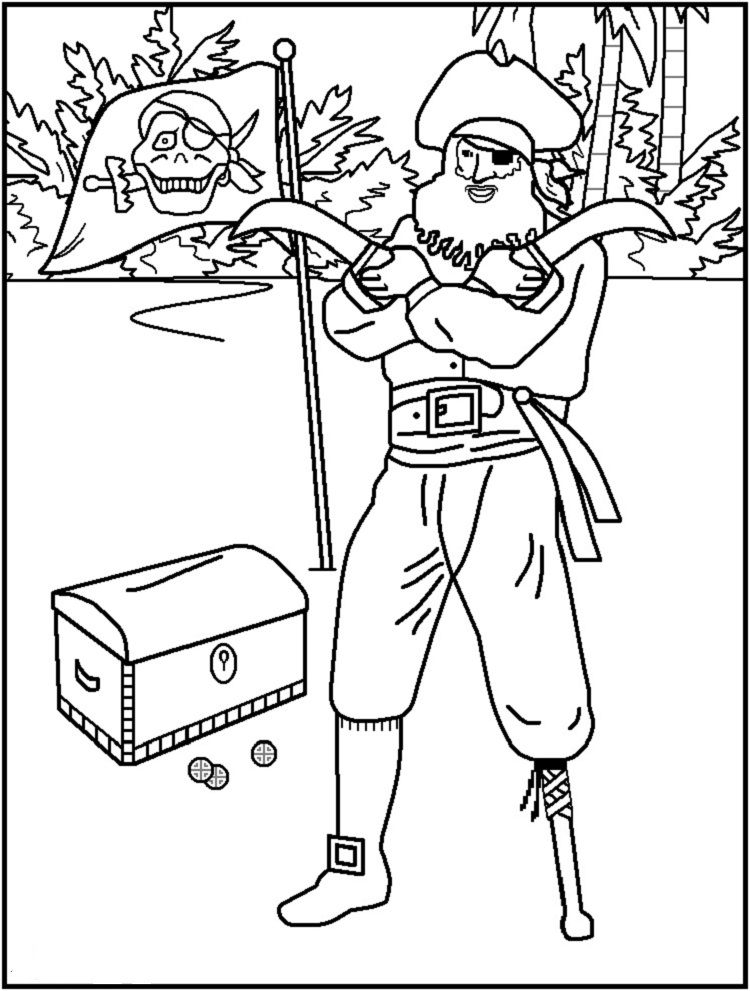 Printable Pirate Coloring Pages Check more at http://coloringareas ...