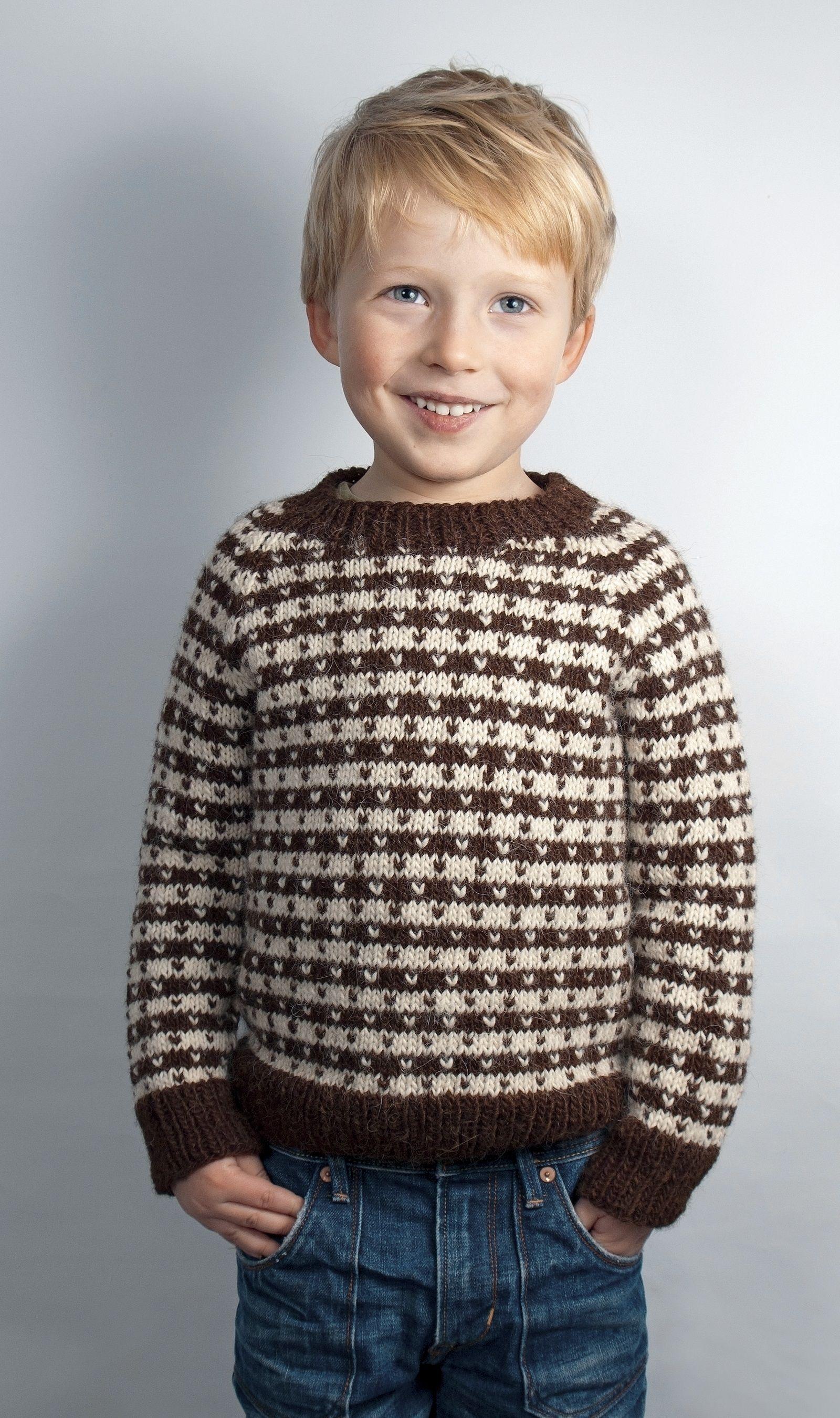 c1699b553f0b66 boys kids alpaca faroese sweater, photo from camarose knitting pattern,  fuzzy fluffy childs childrens nordic fair-isle