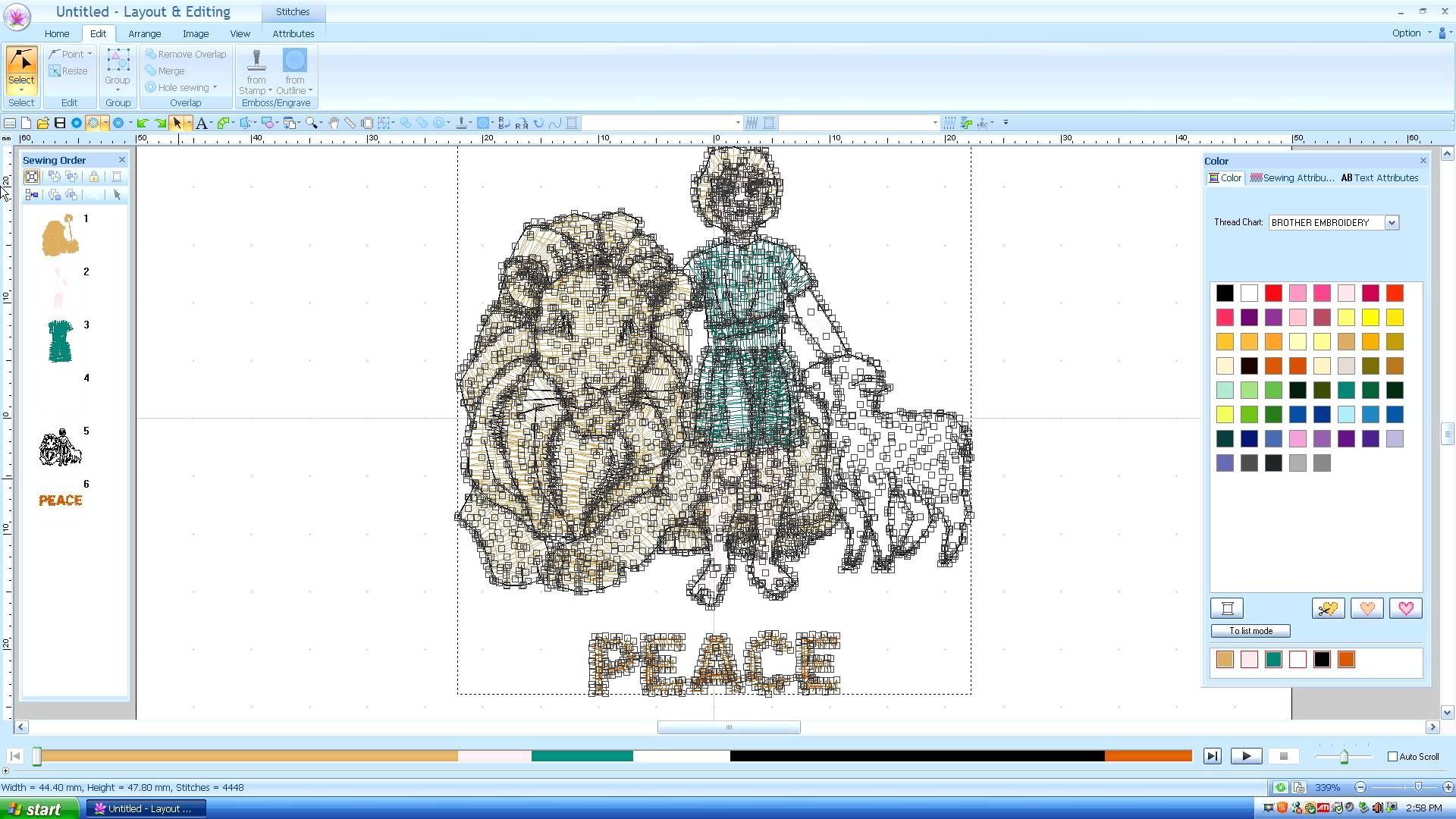 Brother Pe Design Editing Dst Other Files 3 Of 3 Lesson 10
