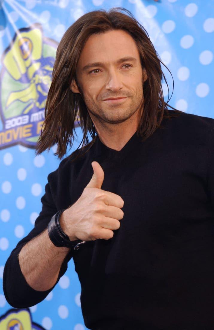 Hey Remember When Hugh Jackman Had Long Hair Hugh Jackman Jackman Long Hair Styles