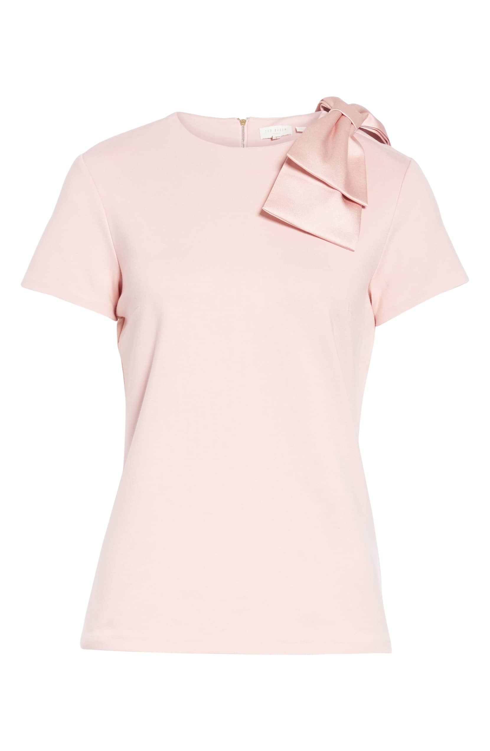 fd3263ac79d331 Ted Baker London Joyous Bow Shoulder Top - Dusky Pink