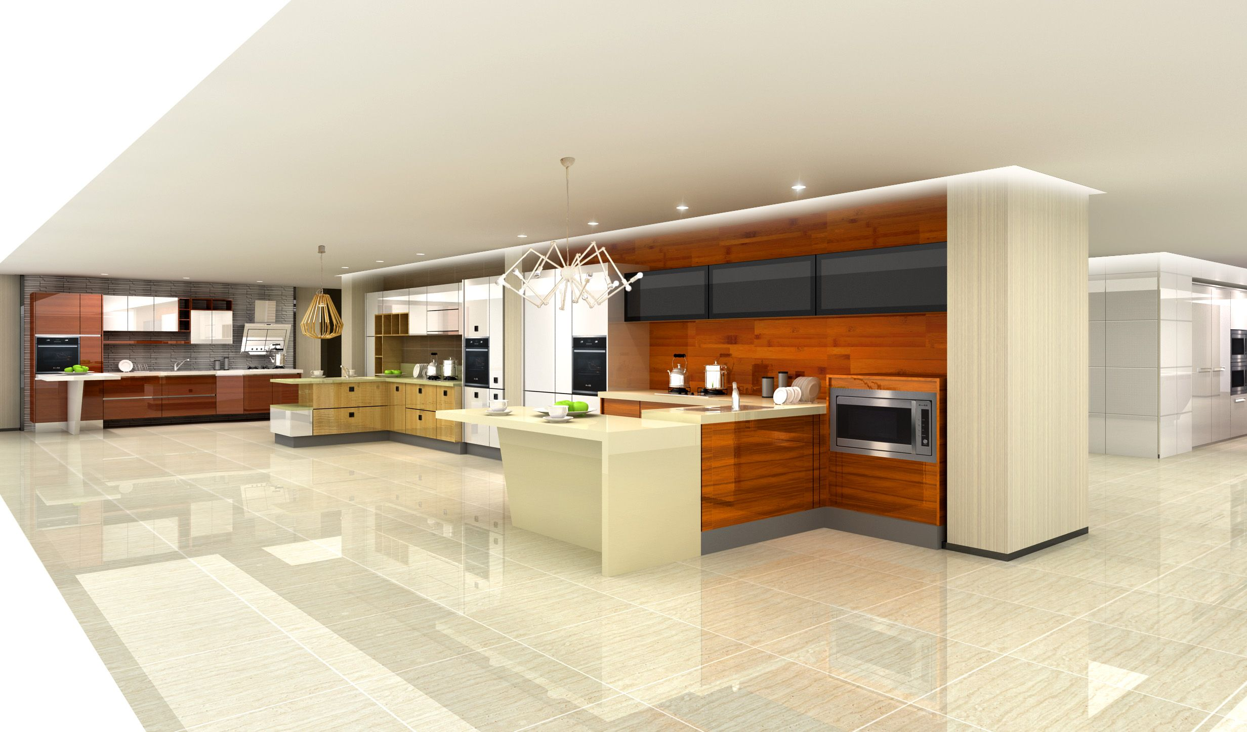 Modern Kitchen Cabinet With Wood Veneer Finish Modern Kitchen Cabinets Kitchen Cabinets White Kitchen Cabinets