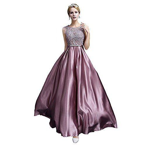 Shoppen Sie TWIFER Damen Off Shoulder Kleid Vintage Spitze Patchwork ...