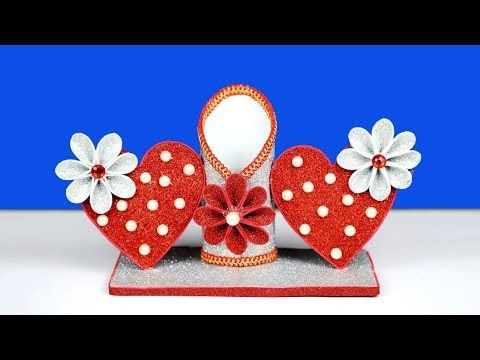 Room Showpiece Making At Home Beautiful Heart Shaped Showpiece Idea Handmade Room Deco Diy Valentines Crafts Valentines Gifts For Boyfriend Design Crafts