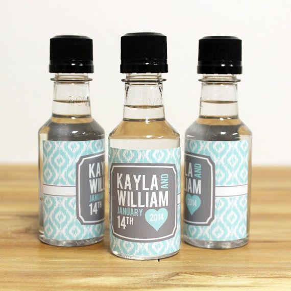 Custom Mini Bottle Favors Liquor Labels And Empty 50 Ml Bottles Alcohol Wedding Thank You