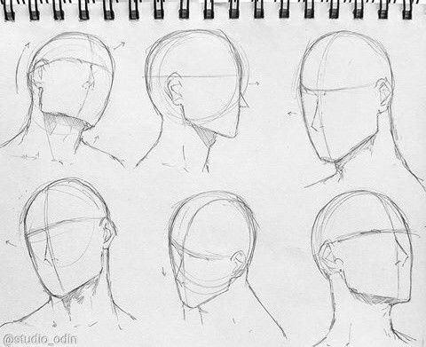 Reference Head Art Sketches Drawings Art Reference Photos