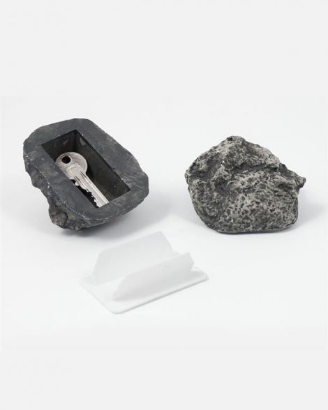 Key Rock is designed to look just like an ordinary rock, making it a safe, discreet place to stash keys amongst everyday landscaping.