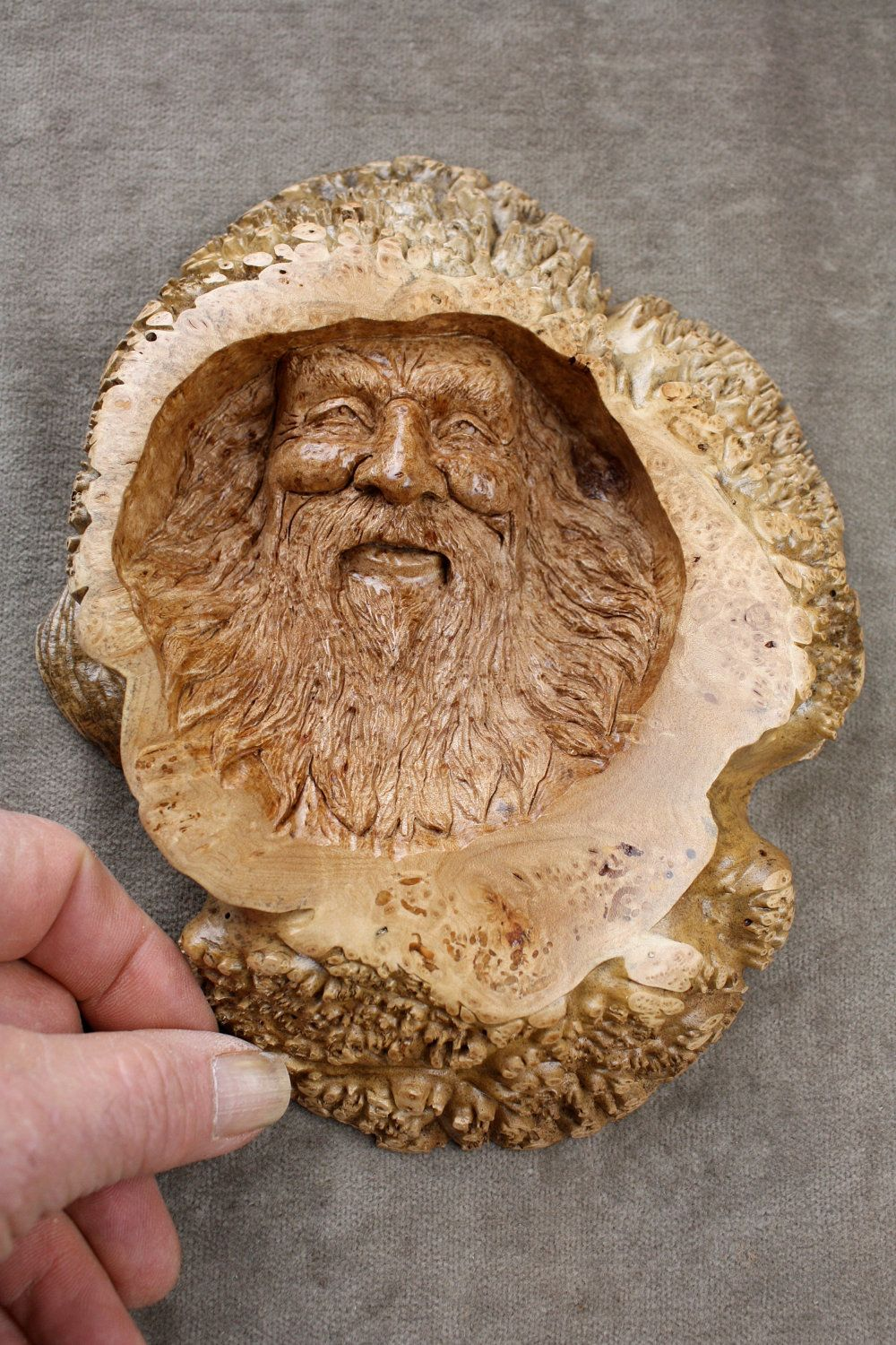 Wood spirit carvings wedding gift for dad