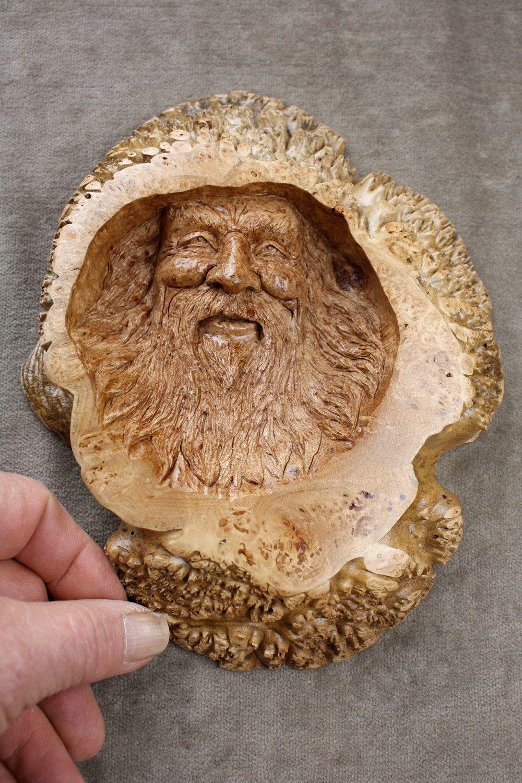 Maple burl wood spirit wood carvings wood wood carving art