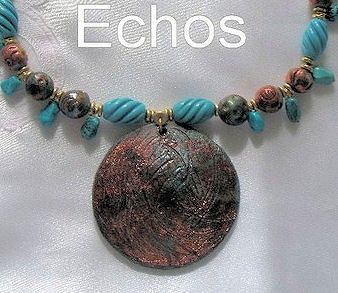 Turquoise and Raku Necklace with Brass Accents  20 by therodeorose, $69.99