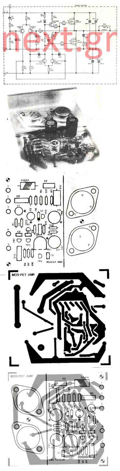 Bomb Proof 150 Watt Mosfet Power Amplifier Electronic Schematics Current Limiting Audio Circuit Amplifiercircuitsaudio