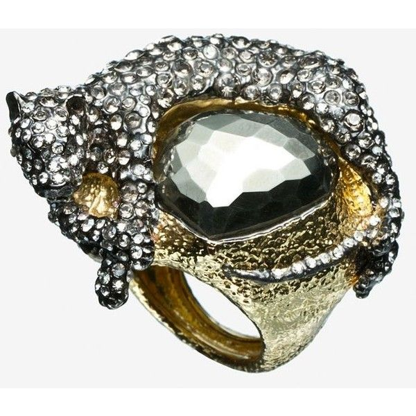 Alexis Bittar Alexis Bittar Siyabona Gold Pyrite Panther Ring ($275) ❤ liked on Polyvore