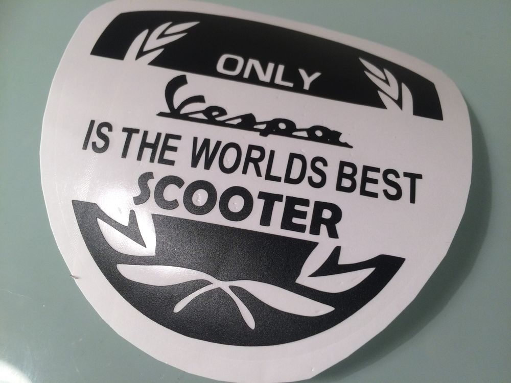 New design vespa is the worlds best scooter decals transfers stickers ebay