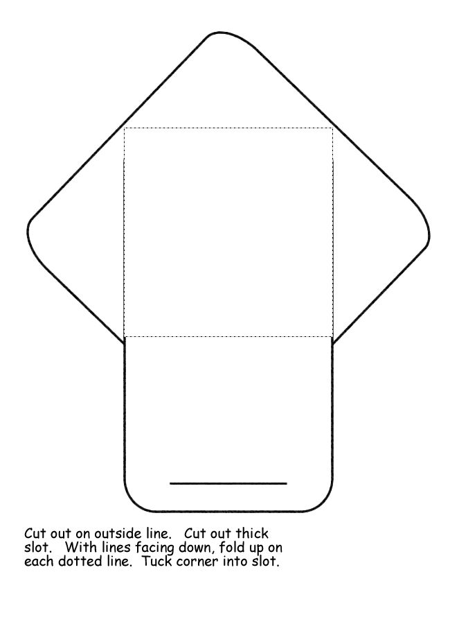 Envelope Pattern  Lapbook    Envelope Pattern School