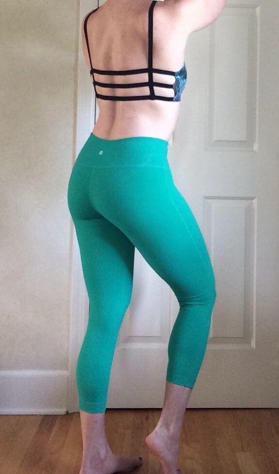 1184f1a04c 90 Degree by Reflex - Capri Length Yoga Leggings - Emerald Green  #90DegreebyReflex #PantsTightsLeggings