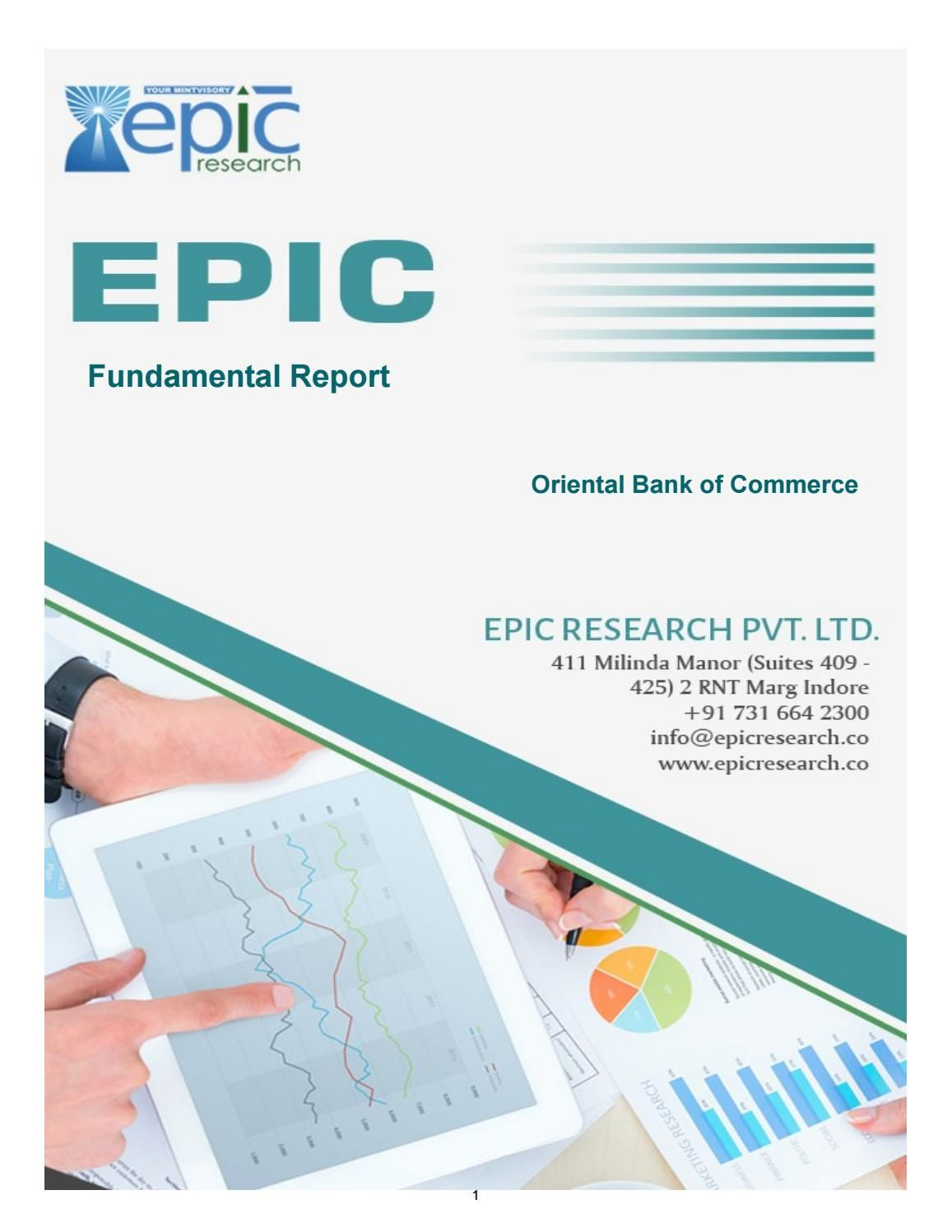 Fundamental report of oriental bank of commerce by epic