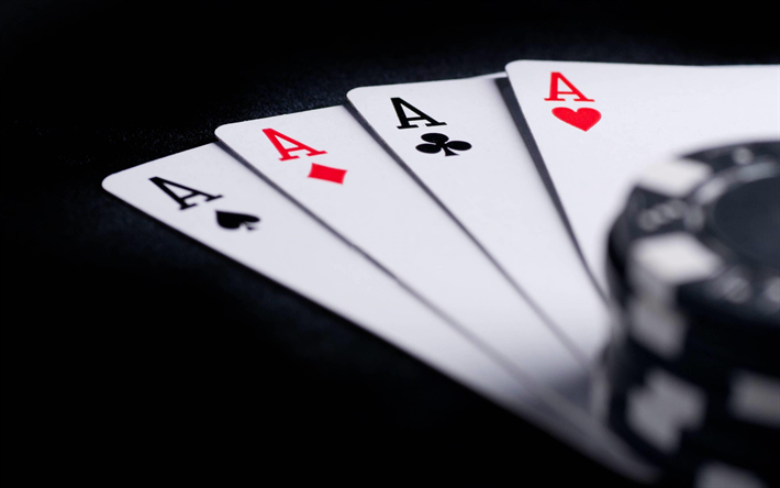 Download wallpapers poker, casino concepts, 4 aces, quads, poker  combinations, gambling, casino chips besthqwallpapers.com | Poker, Poker  cards, Poker chips