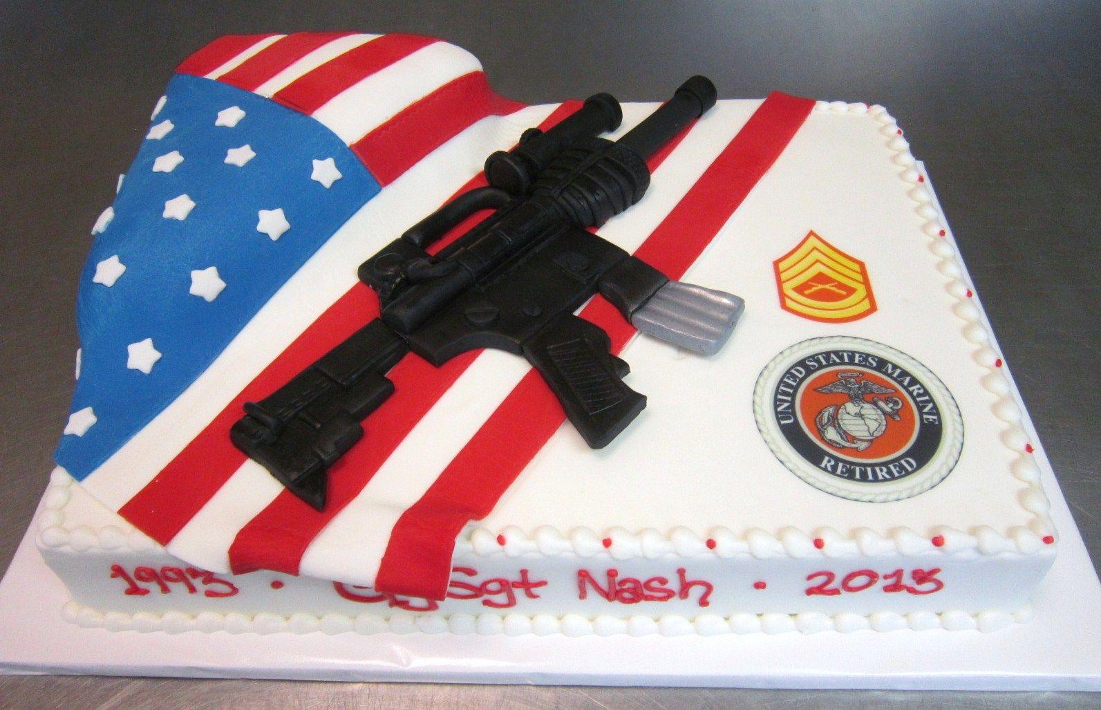 American Dream Cakes Bakery Jacksonville Nc Retirement Cakes Marine Cake Dream Cake