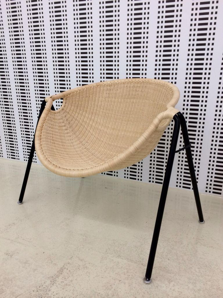 Kani chair (Kani means Crab in Japanese) designed by Toshio Yano in the 1960s for Yamakawa Rattan