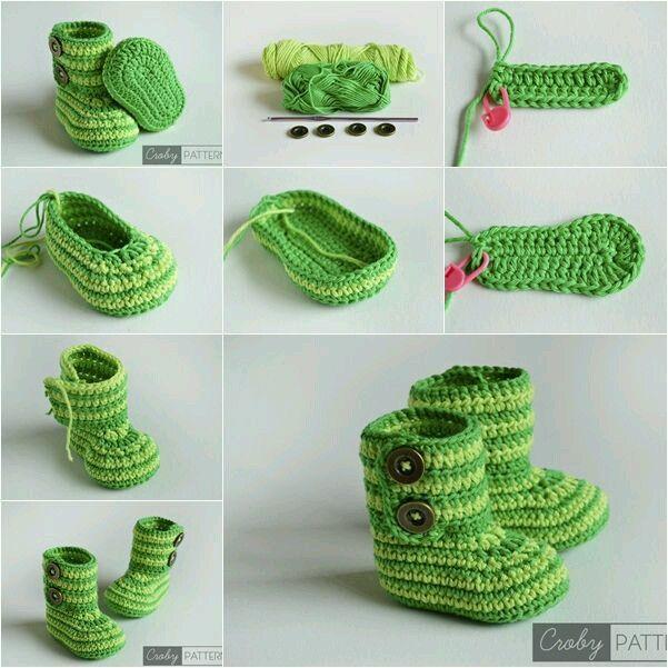 Mi baúl de Inspiraciones : Zapatitos tejidos para niños /niñas ...