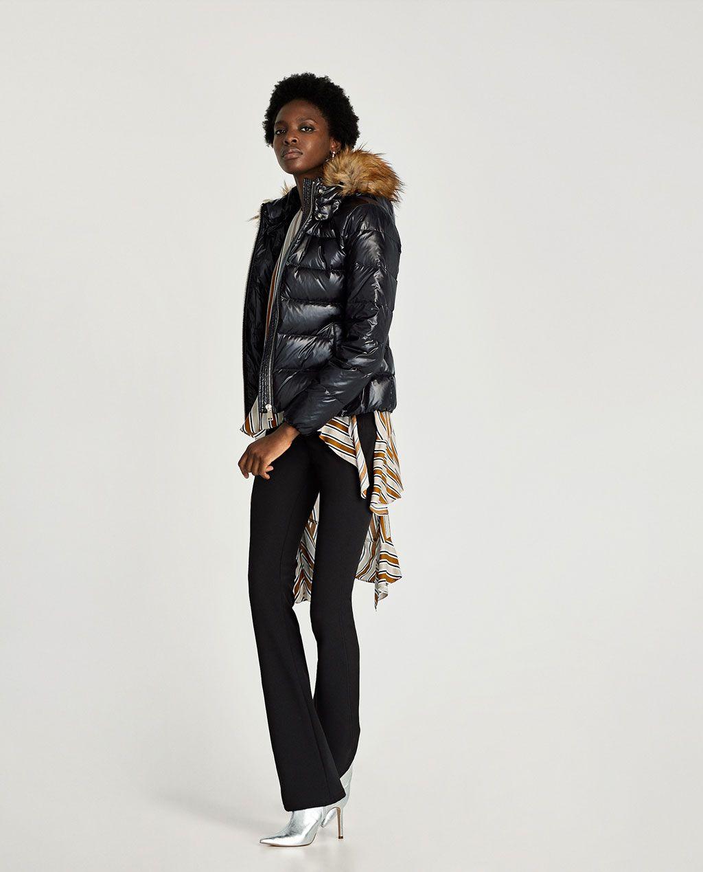 Vintage Jacket/Vest RABBIT FUR TRIM Suede/Leather Blue