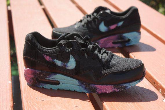 Discount Chaussures Nike Air Max 1 Noir Galaxie Custom | Air max 90 best |  Pinterest | Chaussure
