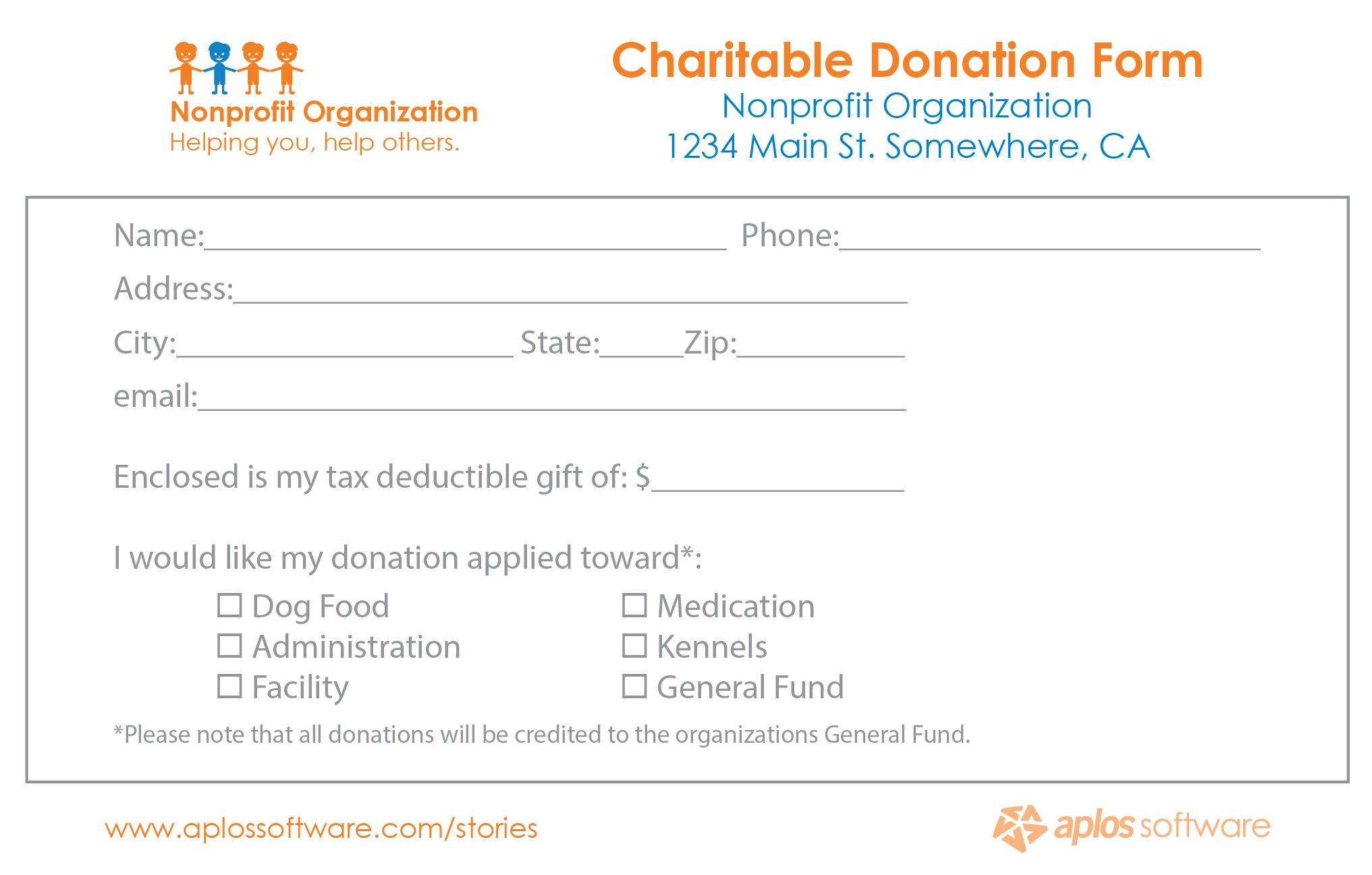 36 Free Donation Form Templates In Word Excel Pdf Within Free