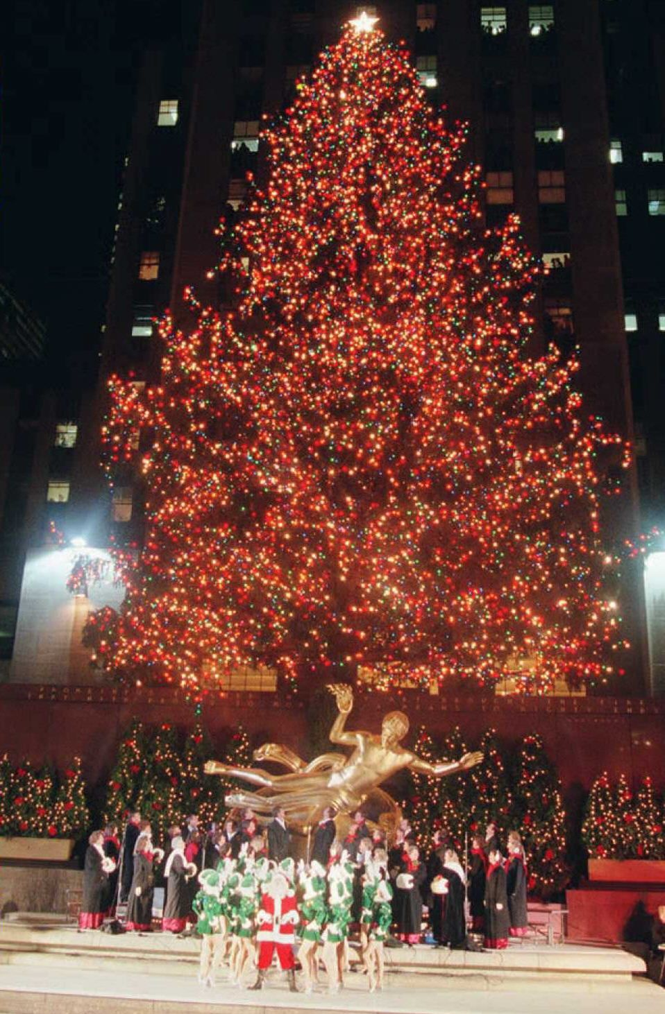 The Rockefeller Center Christmas Tree is officially lit