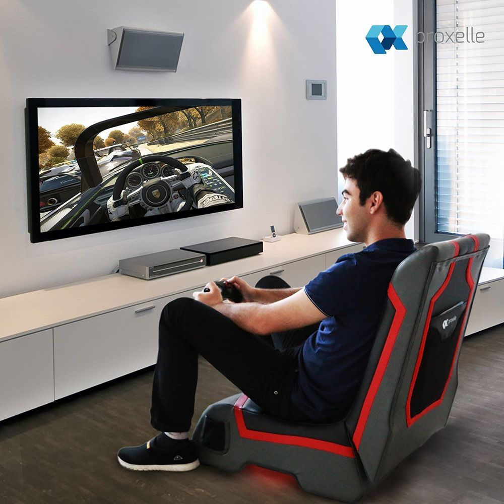 Gaming chair video pc best with speakers led lights