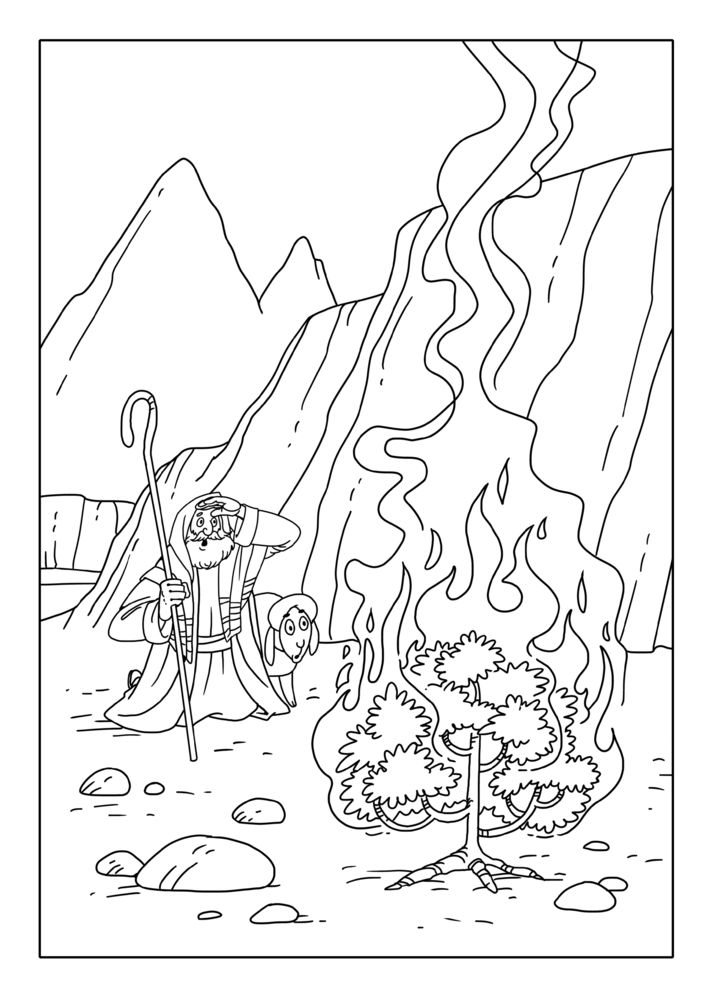 GodlyTots_Bible_Coloring_Pages_221640241 | Moises, Josué e Calebe by ...