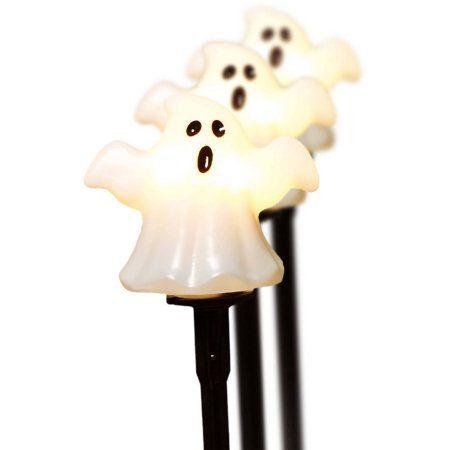 Halloween Set of 3 UL Lawn Stake, Ghost - Walmart Cheaper - halloween decorations at walmart
