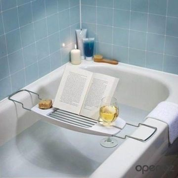 Enjoy the Smart Tub before putting on your Smart Jeans and answering your Smat Phone.