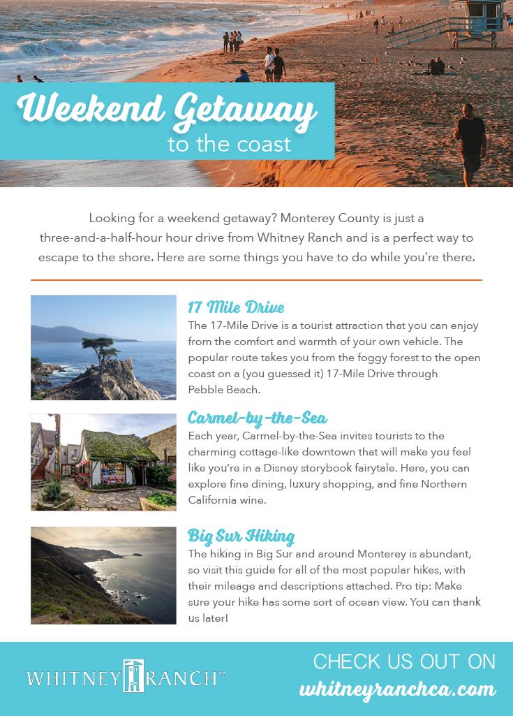 Weekend Getaway To The Coast We Are Whitney Ranch In 2020 Weekend Getaways Dream Vacations Weekend Trips