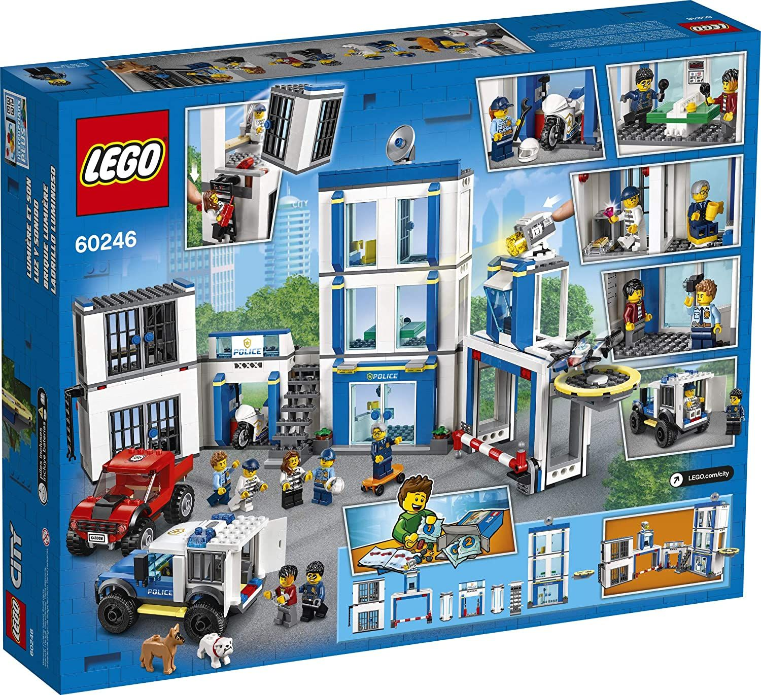 Lego City Police Station 60246 Police Toy Fun Building Set For Kids New 2020 743 Pieces In 2021 Lego City Police Station Lego City Lego City Police