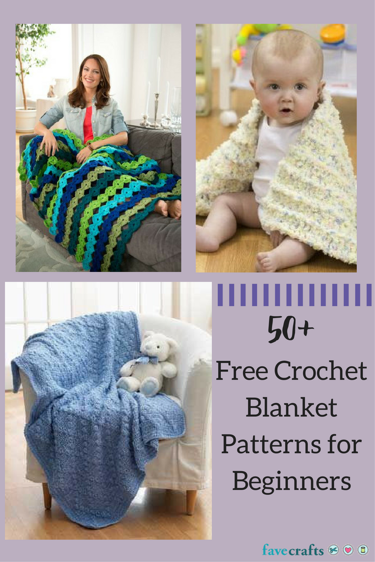 51 Free Crochet Blanket Patterns for Beginners | Para bebes, Colchas ...