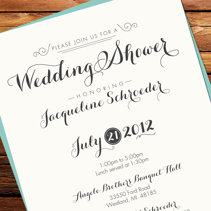 New Quirky Wedding Shower Invitations : Kxo Design