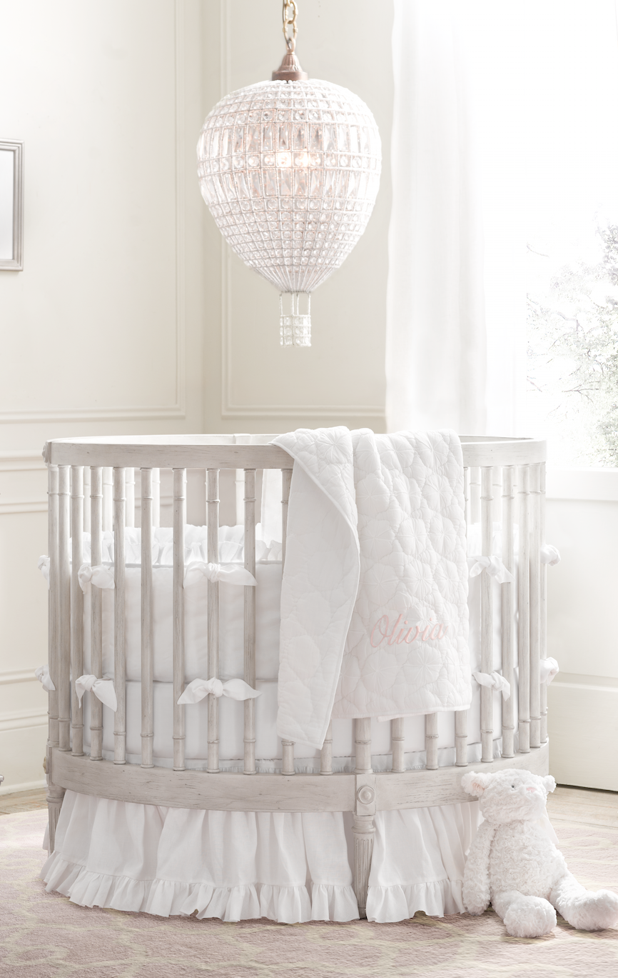 Full Circle Round Cribs Nestle Into Small Spaces With Ease Their Unique Silhouettes Transform Any Nook Into A Nursery Or Round Cribs Baby Crib Diy Baby Cribs