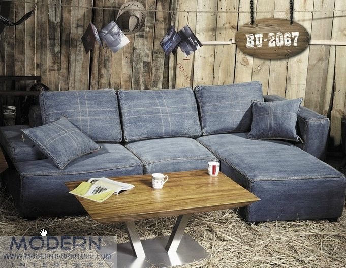 Magnificent Excellent Denim Sectional With Modern Denim Sectional Sofa Gmtry Best Dining Table And Chair Ideas Images Gmtryco