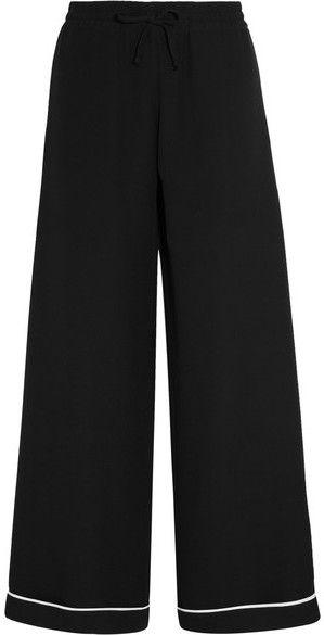 Womens Crepe Wide-Leg Trousers Valentino 0uw6TyjanT