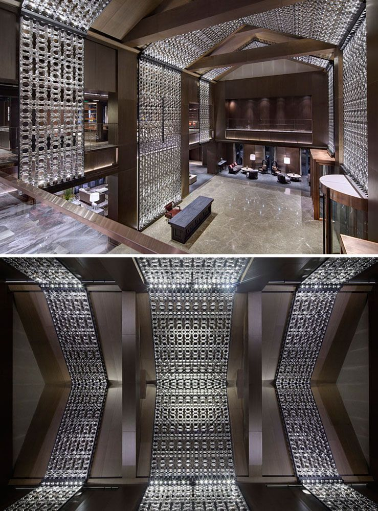 Luxury Hotel Feature Wall Concept Lasvit Crystal Wall