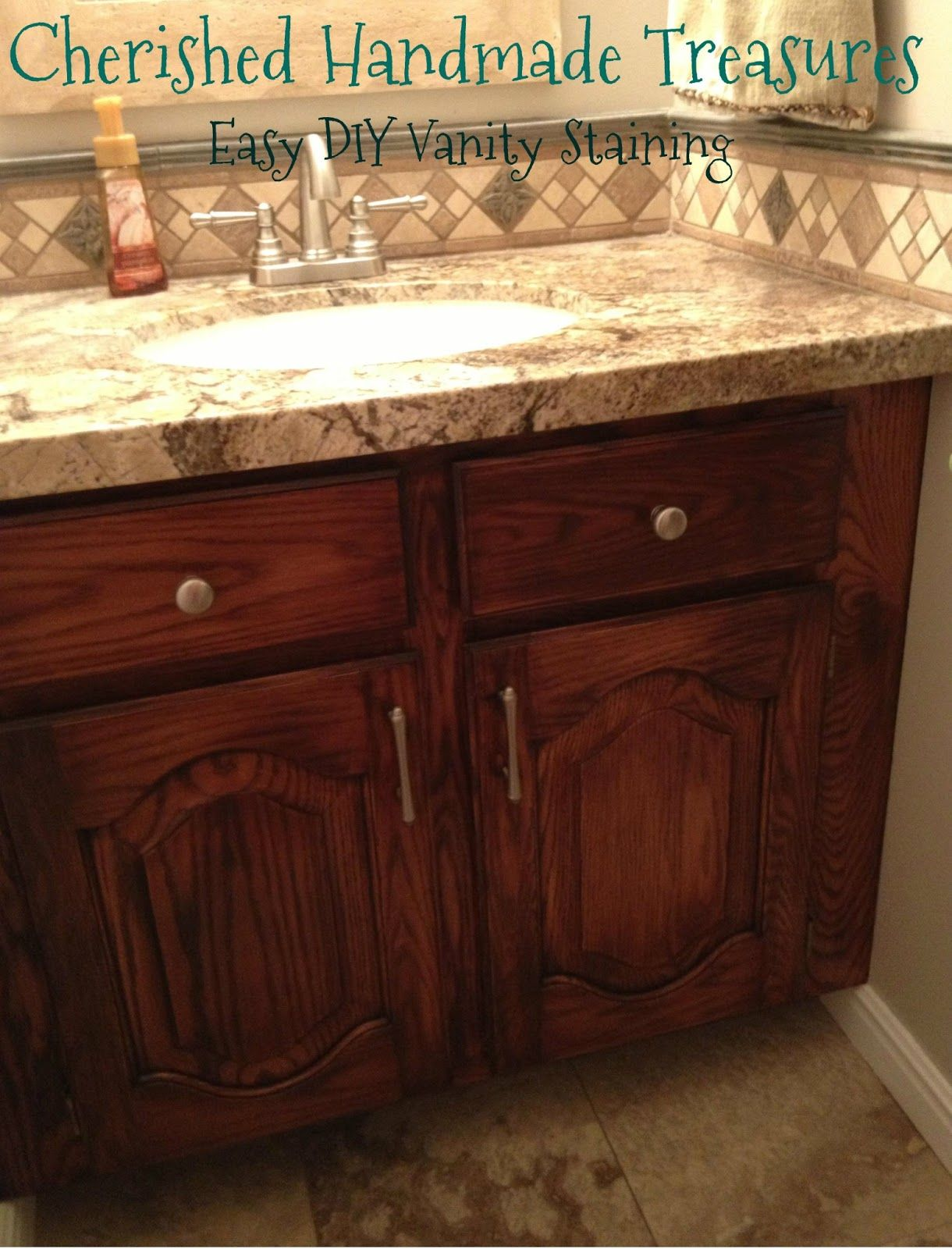 General finishes brown mahogany gel stain kitchen pinterest general finishes for How to stain a bathroom vanity