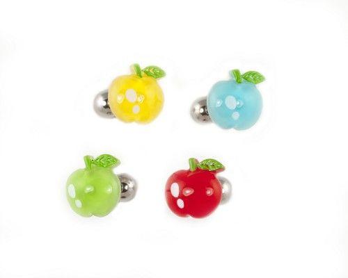Acrylic Apple Tongue Ring Tongue Rings Tongue Piercing Jewelry Cute Tongue Rings