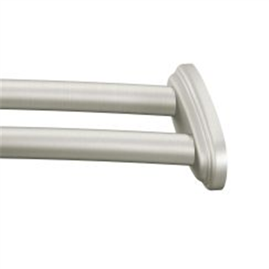 Moen Curved 59 Shower Rod Brushed Nickel In 2020 Double