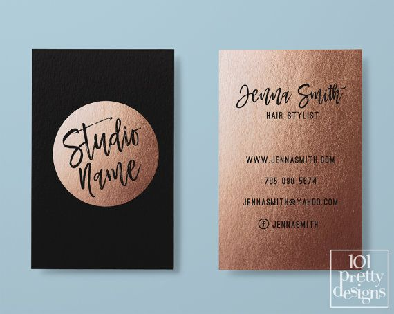 Rose Gold Business Card Makeup By 101prettydesigns