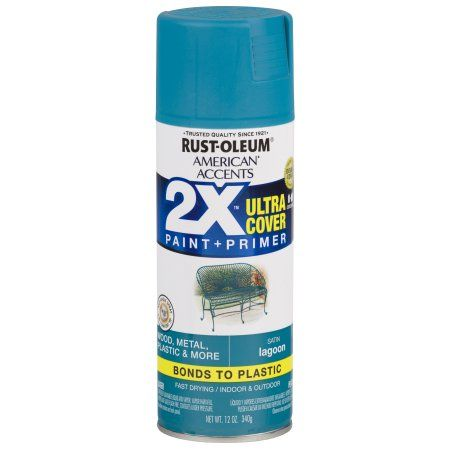 Free 2 Day Shipping On Qualified Orders Over 35 Buy Rust Oleum American Accents Ultra Cover 2x Satin Lagoon Spray P Rustoleum Spray Painting Teal Spray Paint